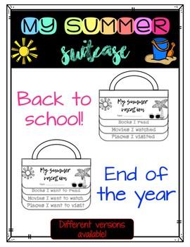 My Summer Suitcase - Back to School CRAFTIVITY - FLIP BOOK