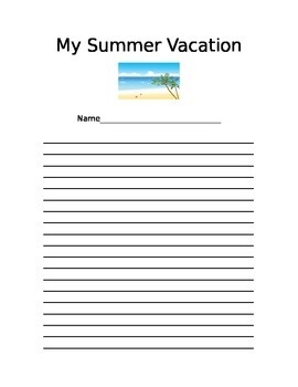My Summer Vacation