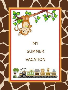 My Summer Vacation Activity for Back To School