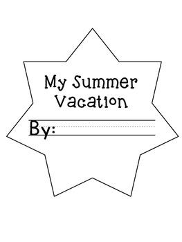 My Summer Vacation Craftivity