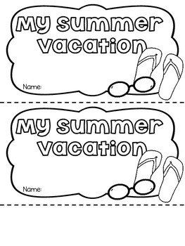 My Summer Vacation Flipbook FREEBIE