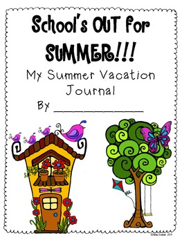 My Summer Vacation Journal: Unique, Creative Writing Pages