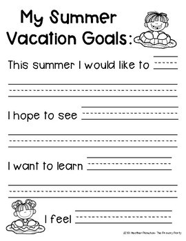 My Summer Vacation Journal