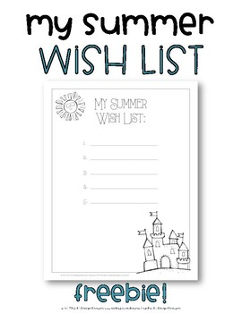 My Summer Wish List