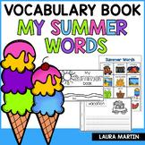 Summer Words Booklet