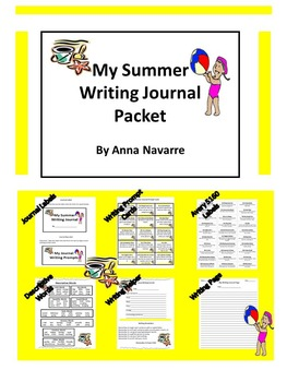 My Summer Writing Journal Packet