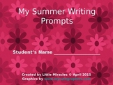 My Summer Writing Prompts