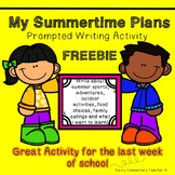My Summertime Plans Prompted Writing Activity - FREEBIE