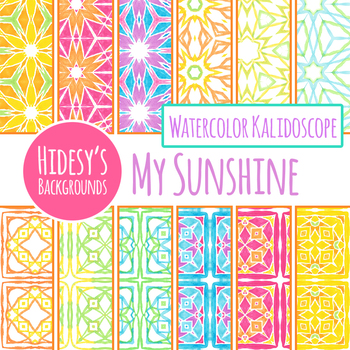 My Sunshine Tiling Handpainted Watcolor Digital Paper / Backgrounds / Patterns