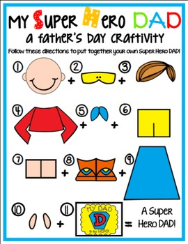 My Super Hero Dad!: A Father's Day SUPERHERO Craftivity