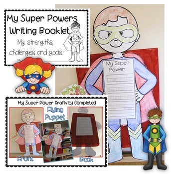 Back to School: Superhero Learning Goals Craftvity
