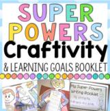 Superhero Learning Goals Craftivity