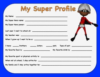 My Super Profile (Danielson 1b)