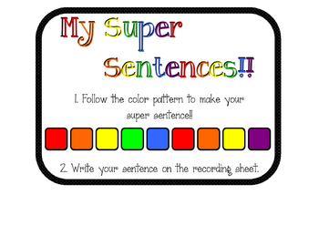 My Super Sentences