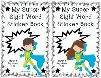 My Super Sight Word Sticker Book SET 1