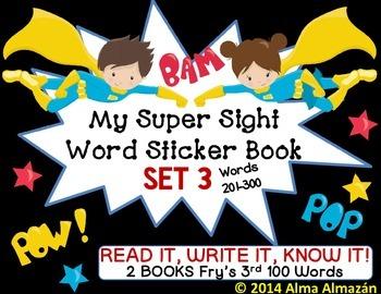 My Super Sight Word Sticker Book SET 3