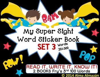 My Super Sight Word Sticker Book SET 3