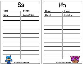 My Super Student Dictionary (Super Hero Theme)