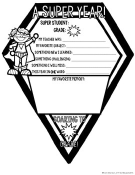 {My Super Year!} End of the Year Pennant Activity