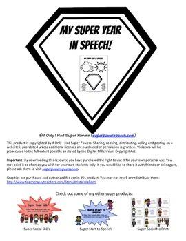 My Super Year in Speech (FREE)
