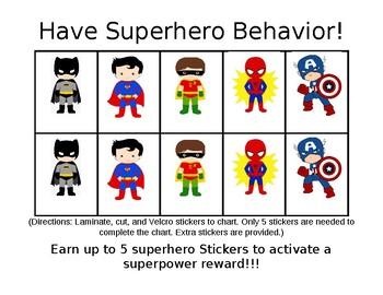 My SuperHero Behavior Chart!