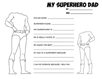 My Superhero Dad - Great Father's Day Activity!