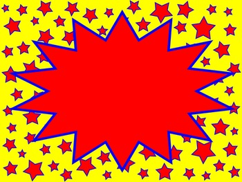 Superhero Themed Backgrounds, Papers and Frames - My Superpower is Kindness Star