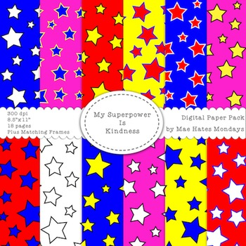 Superhero Themed Backgrounds, Papers and Frames - My Super