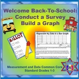 Graphs FREEBIE Back-To-School:  Conduct a Survey & Build a Graph (CCSS Aligned)
