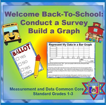 Graphs FREEBIE Back-To-School:  Conduct a Survey & Build a
