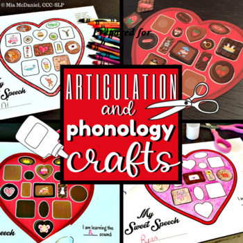 Valentine's Day Crafts for Articulation & Phonological Processes