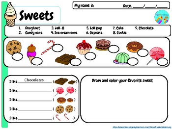My Sweets Free Printable