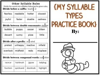 My Syllable Type Book