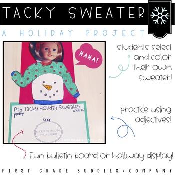 Christmas Activities | Winter Activities | Tacky Sweater | Writing Activities