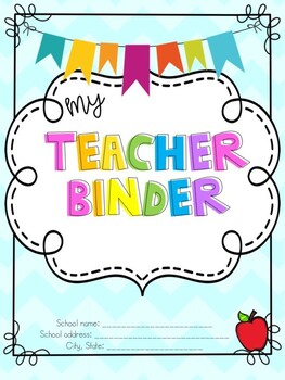 My Teacher Binder Cover Pages!