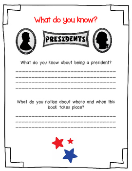 My Teacher For President by Kay Winters-A Book Response Journal
