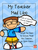 My Teacher Mad Libs