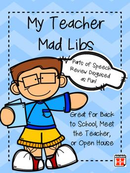 My Teacher Mad Libs