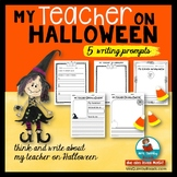 My Teacher On Halloween | Write and Draw | Halloween Fun