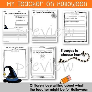 My Teacher On Halloween   Write and Draw   Halloween Fun