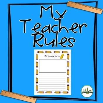 My Teacher Rules Writing