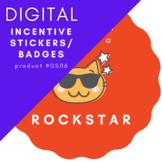 My Teacher Says I'm a ROCKSTAR - Sticker Badge - Instant D