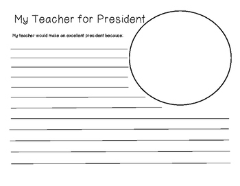 My Teacher for President Response Page