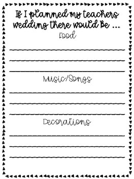 My Teacher is Getting Married! Advice and Activities for your Students