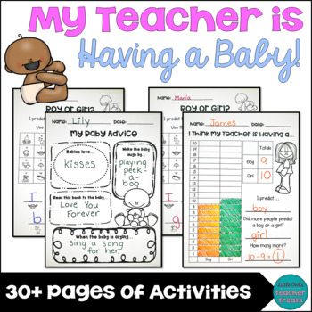 My Teacher is Having a Baby! Classroom Activities
