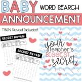 My Teacher is Having a Baby Reveal Word Search