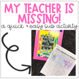 My Teacher is Missing!
