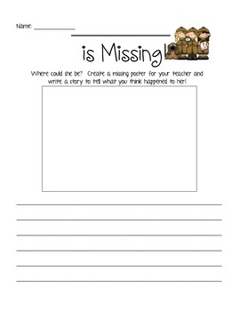 My Teacher is Missing! Creative Writing