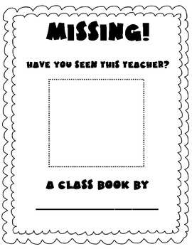My Teacher is Missing Writing Activity and Missing Poster