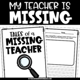 Sub Plans Activity | My Teacher is Missing